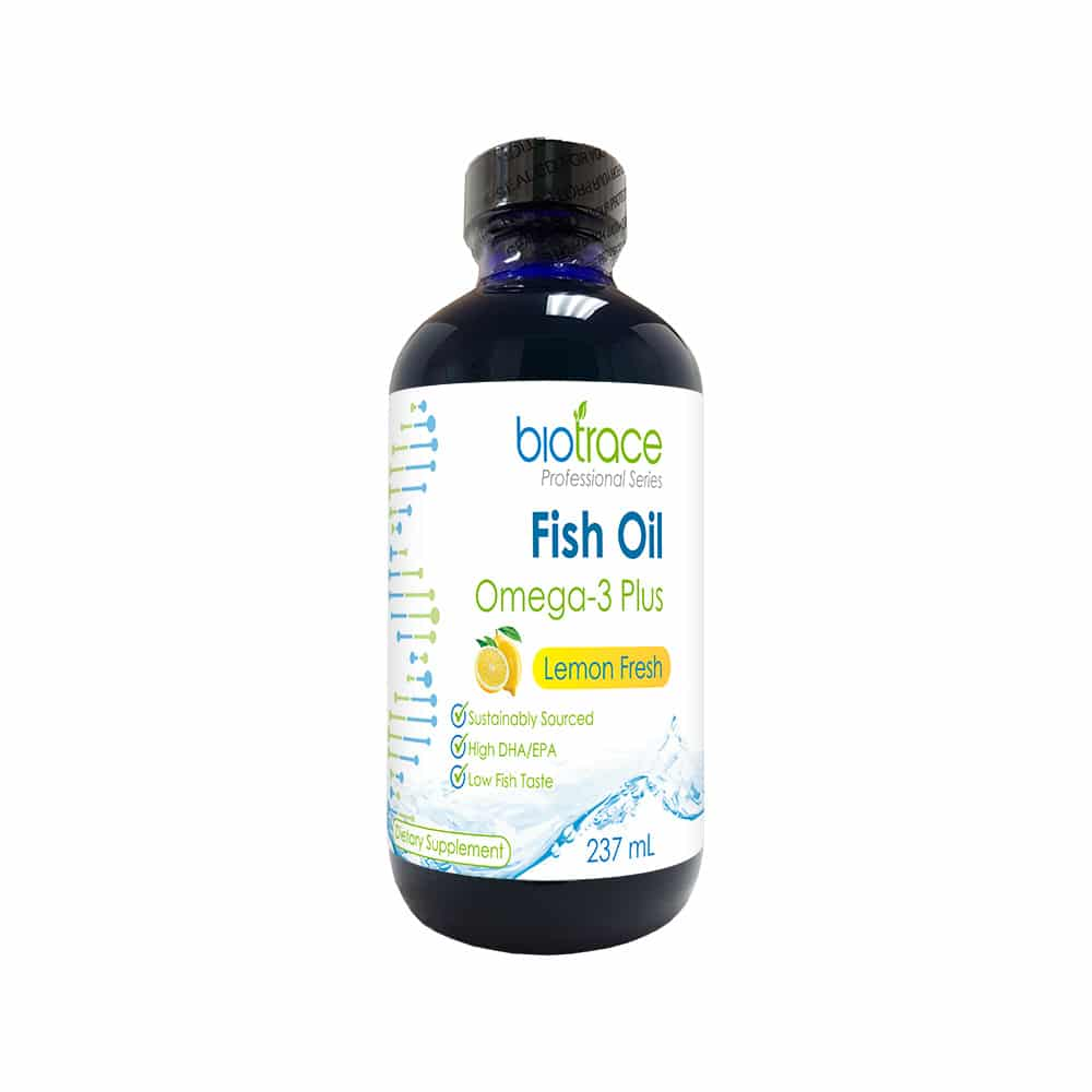 Biotrace fish oil omega 3 plus biotrace for Fish oil dry skin